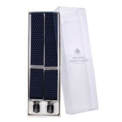 House of Amanda Christensen Navy Dotted Suspenders