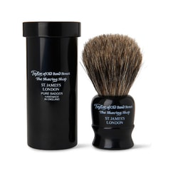 Taylor of Old Bond Street Travel Sized Pure Badger Black Shaving Brush