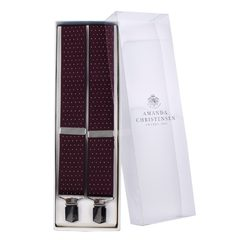 House of Amanda Christensen Dotted Burgundy Suspenders