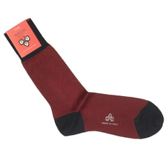 Di Carlo Egyptian Cotton Socks - Red & Navy