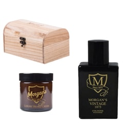 Morgan's 1873 Beard & Cologne Wooden Gift Box