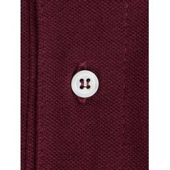 John & Paul Mother-of-pearl Polo - Burgundy