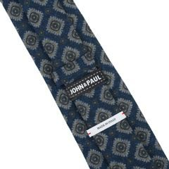 John & Paul Dark Blue Necktie with Blossoms