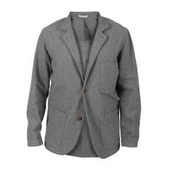 Portuguese Flannel Casual Jacket - Grey