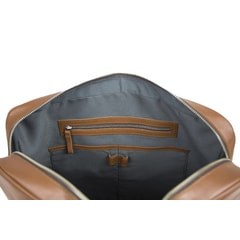 Sandqvist Dag Slim Cognac Leather Briefcase
