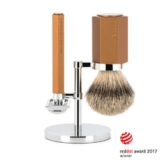 Mühle Hexagon by Mark Braun Bronze Shaving Brush & Razor Gift Set