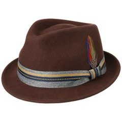 Stetson Woolfelt Westhope Trilby Hat - Brown