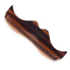 Morgan's Moustache-Shaped Faux Tortoise Shell Beard Comb