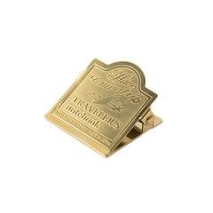 Traveler's Company Brass Clip for Traveler's Notebook w/ Airplane logo