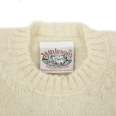 Jamieson's Cream White Shetland Wool Sweater