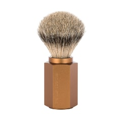 Mühle Hexagon by Mark Braun Silvertip Badger Bronze Shaving Brush