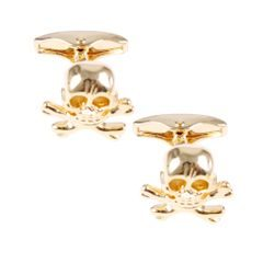 House of Amanda Christensen Gold Pirate Cufflinks