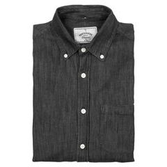 Portuguese Flannel Denim Shirt - Black (button-down)