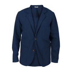 Portuguese Flannel Casual Jacket - Navy