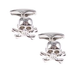 House of Amanda Christensen Silver Pirate Cufflinks