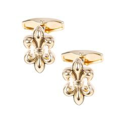 House of Amanda Christensen Gold Flowery Cufflinks