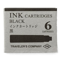 Traveler's Company Black Fountain Pen Cartridges (6 pcs)