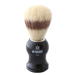 Kent VS60 Natural Bristle Black Shaving Brush