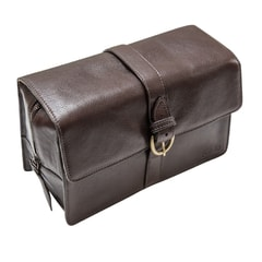 Captain Fawcett Leather Wash Bag