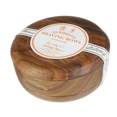 D.R. Harris Sandalwood Shaving Soap in Dark Wooden Bowl (100 g)