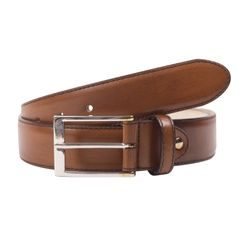 John & Paul Brown Leather Belt