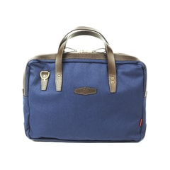 John Chapman Bovey Navy Canvas Briefcase
