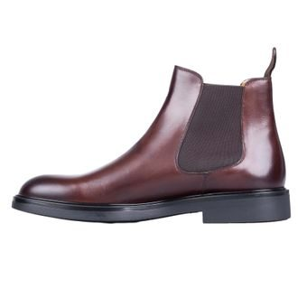 John & Paul Dashing Dark Brown Chelsea Boots