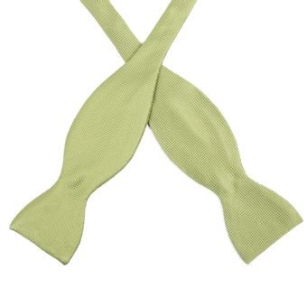 John & Paul Green Self-tie Silk Bow Tie