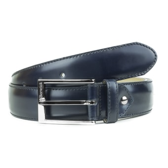 Berwick Blue Leather Belt