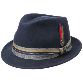 Stetson Woolfelt Westhope Trilby Hat - Navy