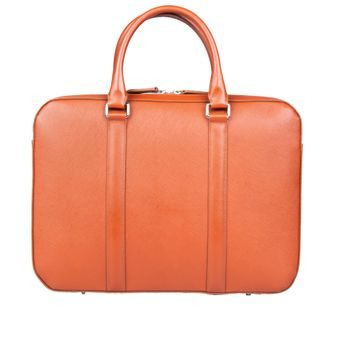 John & Paul Slim Cognac Leather Briefcase 2.0