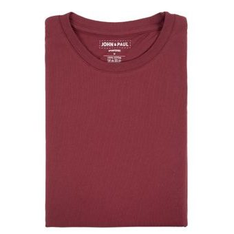 Proper T-shirt John & Paul - Burgundy
