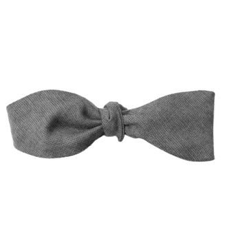 John & Paul Grey Self-tie Wool Bowtie
