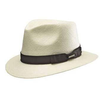 Stetson Traveller Toyo Straw Hat - Beige with Black Ribbon