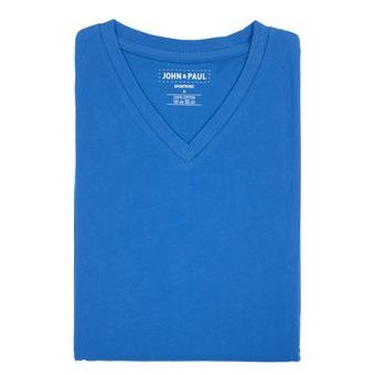 Proper T-shirt John & Paul - Blue (V-neck)