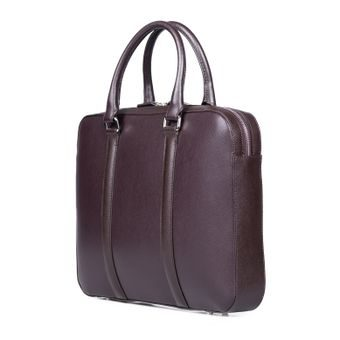 John & Paul Slim Dark Brown Leather Briefcase 2.0