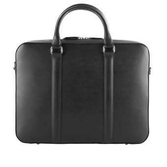 John & Paul Black Leather Briefcase 2.0