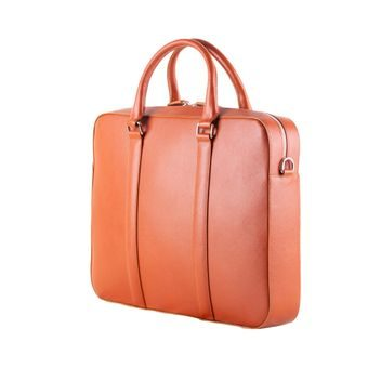 John & Paul Cognac Leather Briefcase 2.0