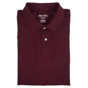 Mother-of-pearl Polo John & Paul - Burgundy