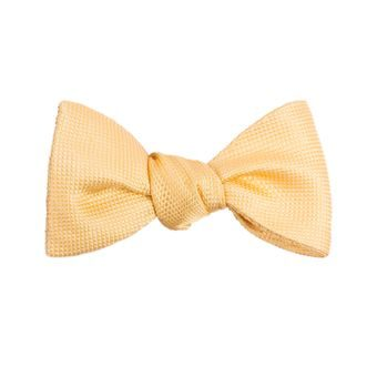John & Paul Yellow Self-tie Silk Bow Tie
