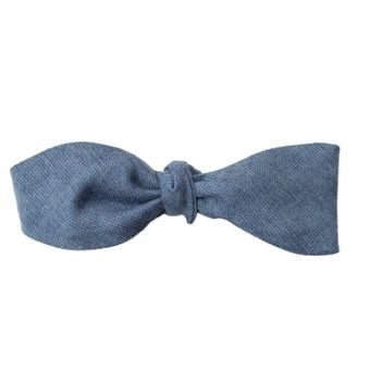 John & Paul Light Blue Self-tie Wool Bowtie