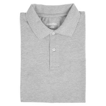 Mother-of-pearl Polo John & Paul - Light Grey