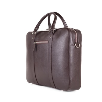 John & Paul Dark Brown Leather Briefcase