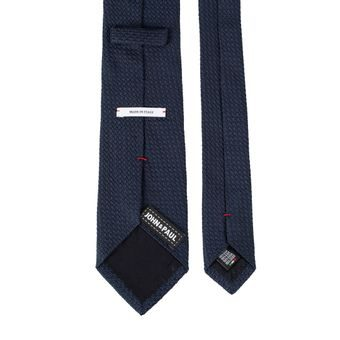 John & Paul Dark Blue Silk Necktie