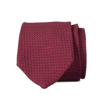 John & Paul Burgundy Silk Necktie