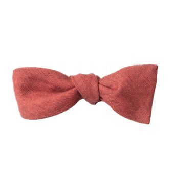 John & Paul Red Self-tie Wool Bowtie