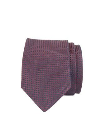 John & Paul Red & Blue Silk Stitched Pattern Necktie