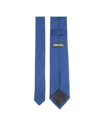 John & Paul Blue Silk Necktie