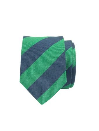 John & Paul Green & Blue Silk Striped Necktie