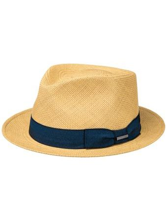 Stetson Player Panama Blue Ribbon Straw Hat